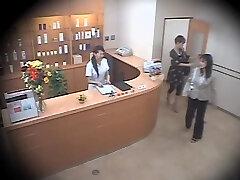 Two cute Asians ravaged rock-hard in voyeur massage video
