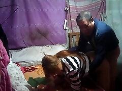 Chinese grandpa humping lady