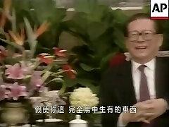 Chinese elder Jiang zemin pulverizes naive Hongkong Journalist hard.