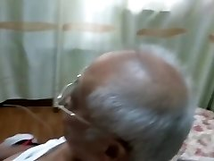 chinese granddad jerking off