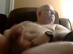 Grandfather cum on cam 12