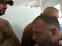 Orgy in mens room