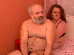Gay-for-pay Daddy Bear with Chub Woman