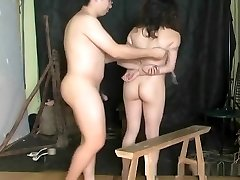 Brutal Asian suspension bondage and torture