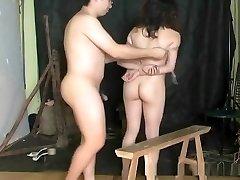Brutal Asian suspension bondage and torture