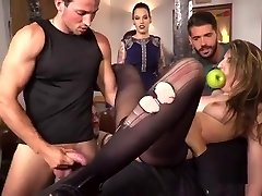Pinched slit slave walked in public