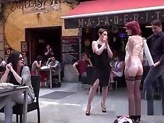 Redhead slave disgraced outdoor