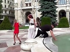Euro marionettes disgraced in wet dresses