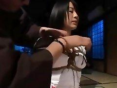 Japanese beauty enjoys tight bondage and being disciplined