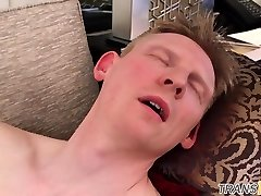 Transsexual alt nurse assfucked and facialized
