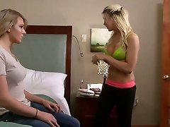 Romantic ladyboy Aspen Brooks gets her pink hole stuffed and strokes off her own dick