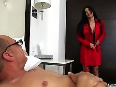 Big bottomed and fake tittied shemale Valeria Danae is boinked in spread anus