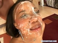 90 facial compilatie sperma aruncata pe fata
