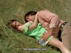 Stud Tries to Seduce teenie in Meadow (1970s Vintage)