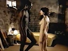 Dark-haired milky girl with black lover - Softcore Interracial
