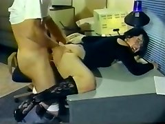 Retro Black-haired Gets Her Ass Skewered
