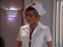 Vintage nurse scene. Cums on her feet