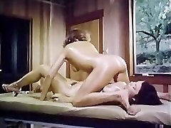 Oily retro girl-girl massage