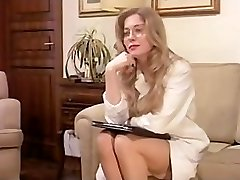 Vintage Wooly Mature has a Threesome and DP in Lingerie!