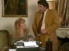 Ultra-cutie office assistant Babette gets fucked by her bosses and her friend