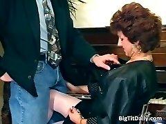 Naughty MILF maid deepthroats on her bosses part5