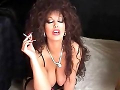 Classic Busty Milf Smoking and Toying