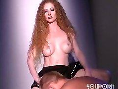 Hot redhead fucks a guy