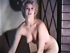 PERHAPS - vintage blonde striptease tights gloves
