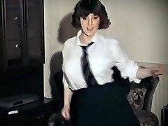 WHOLE LOTTA ROSIE - vintage big tits schoolgirl strip dance