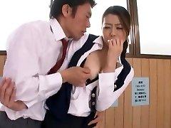 Wild Chinese slut Hikari Hino, Nao Mizuki in Fabulous Cunnilingus, Office JAV video