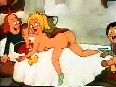 Cartoon retro Banging