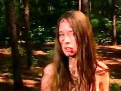 Camille Keaton naked in the forest (1978)
