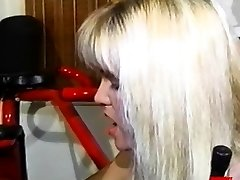 Busty enema dykes playing cabooses and pussies in threesome
