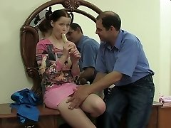 Slutty teen nailed in older vs. youthful video