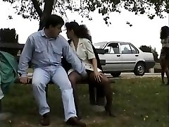 Vintage clip of Babes enjoying showcasing public sex