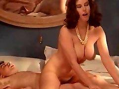 Retro huge-chested MILF enjoys forbidden cock