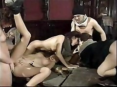 Anita Dark partakes in classic gangbang with her fucked-up mates