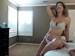 Mature first-timer hot solo action