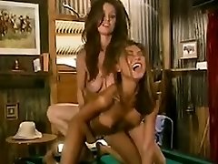 Magnificent Lesbian Threeway On A Pool Table