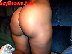 sexybrown.net big ass juicy booty black string bikini