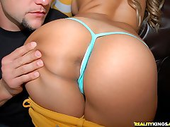 Super fine ass girl with a huge ass cruvy body gets fuckt on the couch and loves the dick in her mouth big tits and blond hair
