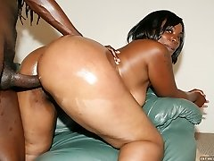 Ebony babe hot blowjob and sex scene