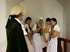 Retro pin with Czech gals getting whipped