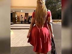 Big butt african in dress