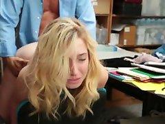 Shoplyfter - Prevention Officer Cuffs & Fucks Blonde Thief