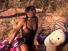 Busty African Slave Gets Toughly Nailed Outdoor