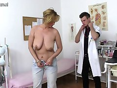 Naughty mother fucking and sucking young doctor