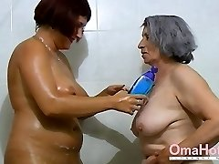 OmaHoteL Grannie and Mature are Toying Together