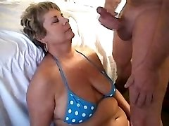 Deep-throating a load on mummies face 1fuckdatecom