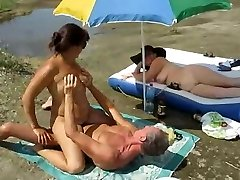 Russian swingers make enjoy by the river.